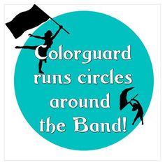 Color guard runs circles around the Band!