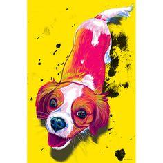 Maxwell Dickson 'Zoe' Pop Art Dog Canvas Print   Overstock.com