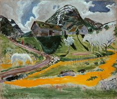 The Athenaeum - The White Horse in Spring (Nicolai Astrup - )