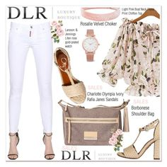"""""""''DLR -Luxury Boutique''"""" by spenderellastyle ❤ liked on Polyvore featuring Charlotte Olympia, Dsquared2, Borbonese, Larsson & Jennings and dlrboutique"""