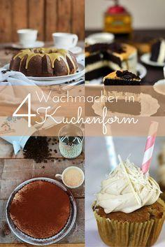 4 unwiderstehlich gute Kaffee Kuchen - 4 delicious mocha cakes #food #coffee #kaffee #cake #kuchen