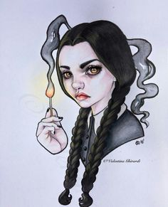 Wednesday Addams by Valentina Moon Child Mehr