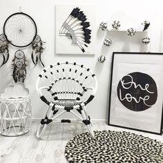 kids room, monochrome, decor, black and white