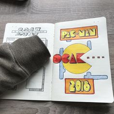 """Ocak"" is the january in Turkish. #bulletjournal #bulletjournaljunkies #bulletjournalideas #pacman #2018 #notebook"