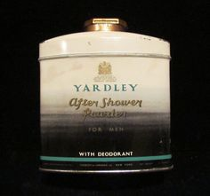 Vintage Yardley After Shower Powder Tin Collectibles