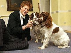 Prince Harry with Rosie & Jenny