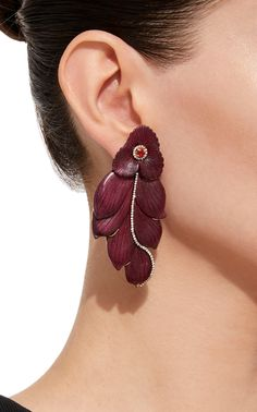 M'O Exclusive: Marquetry Leaf Earrings by SILVIA FURMANOVICH for Preorder on Moda Operandi