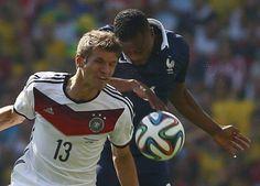 A França pressionou até o último minuto, já que o gol da Alemanha saiu logo aos 12 minutos do primeiro tempo