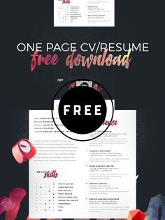 98 Awesome Free Resume Templates in this post are made by creative designers for designers and these resume templates are fully editable, so you can replace the text, change the name, add your phone number and address of your own. Best Resume Template, Free Resume, Photoshop Tutorial, Photoshop Actions, Adobe Photoshop, Web Design, Graphic Design, Design Layouts, Design Trends
