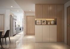 40 Small Cozy Apartment Design With Asian And Scandinavian Influences Ideas - Page 18 of 34 Small Cozy Apartment, Small Apartments, Japanese Interior Design, Contemporary Interior Design, Futuristisches Design, Foyer Design, Modern Apartment Design, Ikea Kitchen Design, Cupboard Design