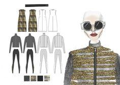 Fashion Sketchbook - fashion illustration; flat drawings; fashion design portfolio // Hannah Eason