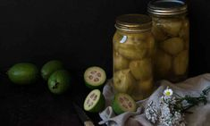 Got more feijoas than you know what to do with? Preserve them to enjoy all year round.  I may have mentioned before that we have 26 feijoa trees. It means that at this time of year, come rain or shine, you'll often find us outside under the trees picking up each and every feijoa that hits the gr