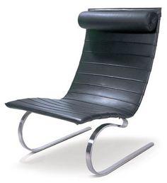 PK20 Rocking Chair inspired by Poul Kjaerholm black