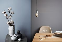 love the grey and soft blue color palette