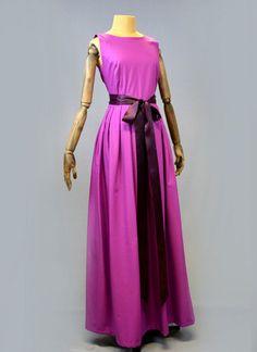 Purple Maxi Dress by alexandrakingdesign on Etsy