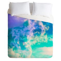 Caleb Troy Mountain Meadow Painted Clouds Duvet Cover | DENY Designs Home Accessories
