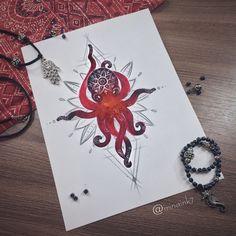 #tattoo #tat #tattoosketch #tattoosketches #tattooartist #art #artlife #artoftheday #artist #pic #picoftheday #picture #illustrator #illustration #illustrate #vsco #vscocam #color #watercolor #watercolortattoo #linework #line #mandala #octo #octopus #octopustattoo #octopusart #octopuslove