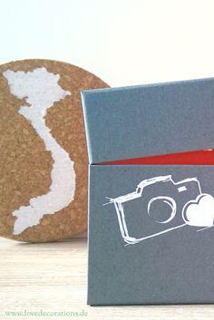 Urlaubserinnerung mit Polaroid-Fotos