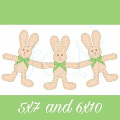 Easter Bunny Rabbit Paper Doll Chain Bunting Blanket Stitch Applique Vintage Style Machine Embroidery Design Paper Doll Chain, Paper Dolls, Blanket Stitch, Bunny Rabbit, Bunting, Easter Bunny, Machine Embroidery Designs, Free Design, Applique