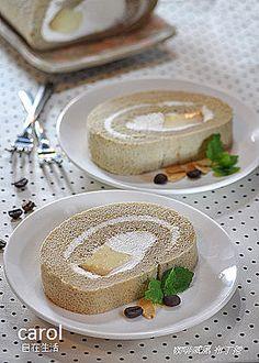 Coffee chiffon cake roll with pudding / purin  filling 咖啡戚風布丁捲 - Carol 自在生活 - Yahoo!奇摩部落格