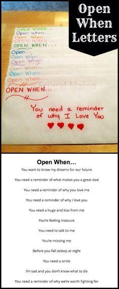Open When.....(letters)