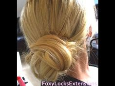 Hair |  How To.  Classic wrap around bun - Love it for long thick hair - Sooo easy!