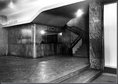 Cinema batalha, Porto. Arq. Artur Andrade, 1947 Cinema, Foyer, Stairs, Home Decor, World War Two, Zinc Roof, Porto, Battle, Architects