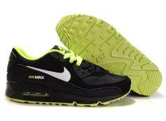 best sneakers eefbc 4e3d4 Femme Nike Air Max 90 Grade AAA 2012 Noir Blanc Vert-vyjnZ2 Nike