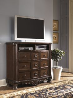 North Shore   Media Chest By Millennium. Get Your North Shore   Media Chest  At American Furniture, Brooklyn Park MN Furniture Store.