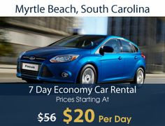 Myrtle Beach South Carolina Car Rental - 110% Best Price Guaranteed. Contact me for work from home travel business information. www.vacationincomes.com