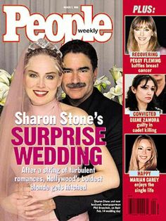 Phil Bronstein and Sharon Stone