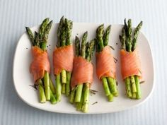 Asparagus and Smoked Salmon Bundles from CookingChannelTV.com