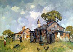 Landscape Art, Landscape Paintings, South African Artists, Africa Art, Nature Paintings, Art Pictures, Amazing Art, Watercolor Art, Art Drawings