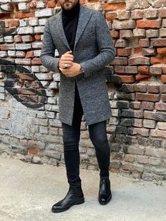 Collection Fall Winter 19 20 Product Slim Fit Wool Long Coat Color Code Gray Available Size Coat Material 80 Wool 20 Polyester Machine Washable No Fitting Slim-Fit Drop 6 Package Include Coat Only Mens Wool Coats, Long Wool Coat, Mens Long Coat, Winter Outfits Men, Casual Outfits, Casual Guy, Simple Outfits, School Looks, Mens Fashion Suits