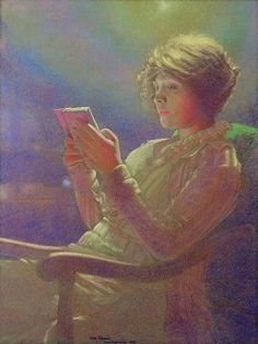 """Woman Reading"" by Kamir Kaufman, 1921."