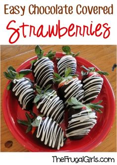 Easy Chocolate Covered Strawberries!