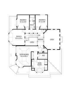 Contemporary Farmhouse Level Two of Plan 87550
