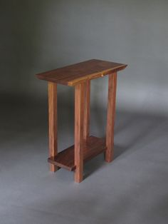 Small Table: Modern Wood Furniture for a Narrow End Table, Narrow Side Table or small accent table- handmade live edge table