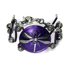 | Purple Dragonfly Bracelet by *CatherinetteRings on deviantART