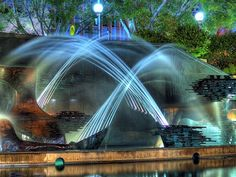 Symphony water fountain newcastle australia AU magical park trees downtown civic new south wales nsw captain cook memorial outdoor nature city explore city hall theater king street st dancing water Water Fountain Design, Water Fountains, Outdoor Fountains, Places Around The World, Around The Worlds, Famous Castles, Vacation Spots, Land Scape, Landscape Design