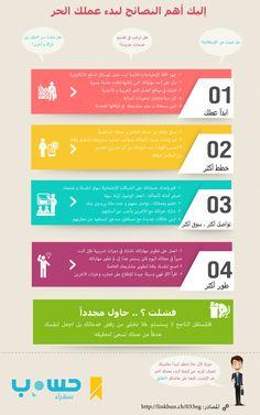 إنفوجرافيك | أهم النصائح لبدء العمل الحر