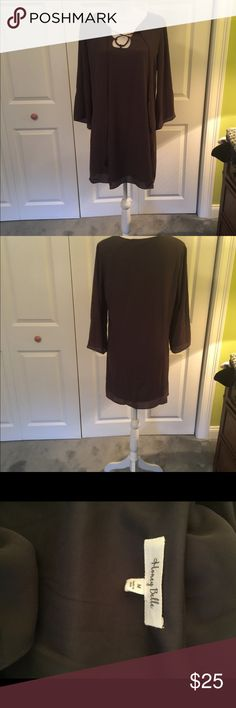 BNWOT Gorgeous Gray Dress Brand New from The PaperStore never worn Honey Bella Dresses Long Sleeve