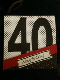 a 40th birthday card