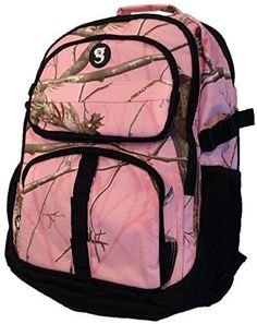 NWT RealTree Optivate 14 Organizational Backpack 19x15x7 inches Pink #RealtreeXtra