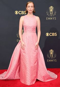 2021 Emmy Awards Red Carpet Roundup - Red Carpet Fashion Awards Jennifer Coolidge, Allyson Felix, Keri Russell, Mandy Moore, Amy Poehler, Sophia Bush, Catherine Zeta Jones, Gillian Anderson, Armani Prive