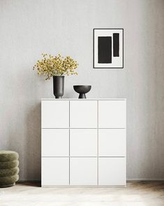 """Paper Collective on Instagram: """"Clean and simple, yet strong and bold // MAKE 02 by @lemon__official for Paper Collective. ⠀⠀⠀⠀⠀⠀⠀⠀⠀ .⠀⠀⠀⠀⠀⠀⠀⠀⠀ Image credit @lundiafi…"""" Modular Storage, Black And White Posters, Types Of Furniture, Better Together, Scandinavian Design, Declutter, Storage Solutions, Sideboard, Doors"""