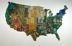 """Artist Susan Stockwell calls these sculptures created from recycled computer parts """"an autopsy of our consumer society."""" The US still looks pretty arresting from that perspective. Gifts For Campers, Camping Gifts, Computer Parts And Components, Vader Star Wars, Wine Glass Holder, Game Pieces, Creative Gifts, How To Look Pretty, Perspective"""