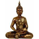 "Found it at Wayfair - Oriental Furniture 11"" Thai Sitting Buddha Statue in Faux Wood Grain"