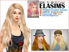 -- select a Website --: Newsea`s hairstyle 19F converted by ELA  - Sims 4 Hairs - http://sims4hairs.com/select-a-website-newseas-hairstyle-19f-converted-by-ela/