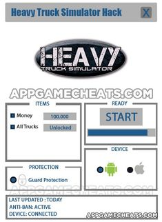 Heavy Truck Simulator Cheats, Hack, & Tips for Money & All Trucks Unlock  #HeavyTruckSimulator #Racing #Simulation http://appgamecheats.com/heavy-truck-simulator-cheats-hack-tips/